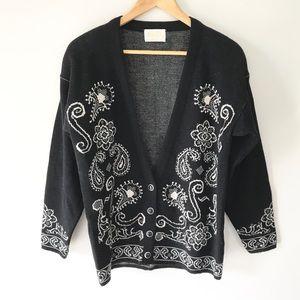 Vintage Pendleton Wool Cardigan Sweater V Neckline